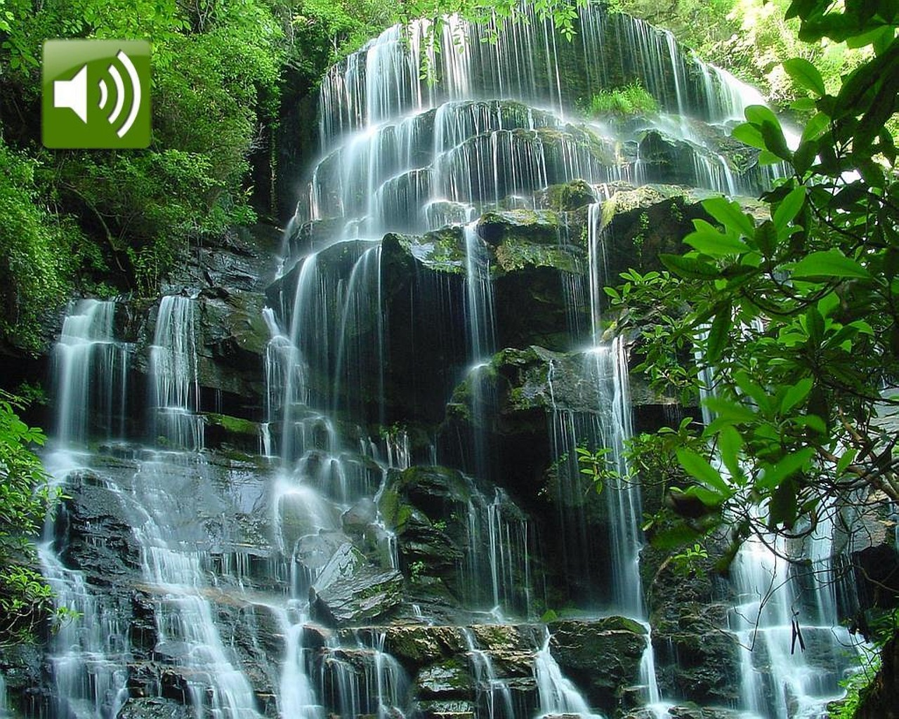 Moving Waterfalls Screensavers with Sound 1280x1024