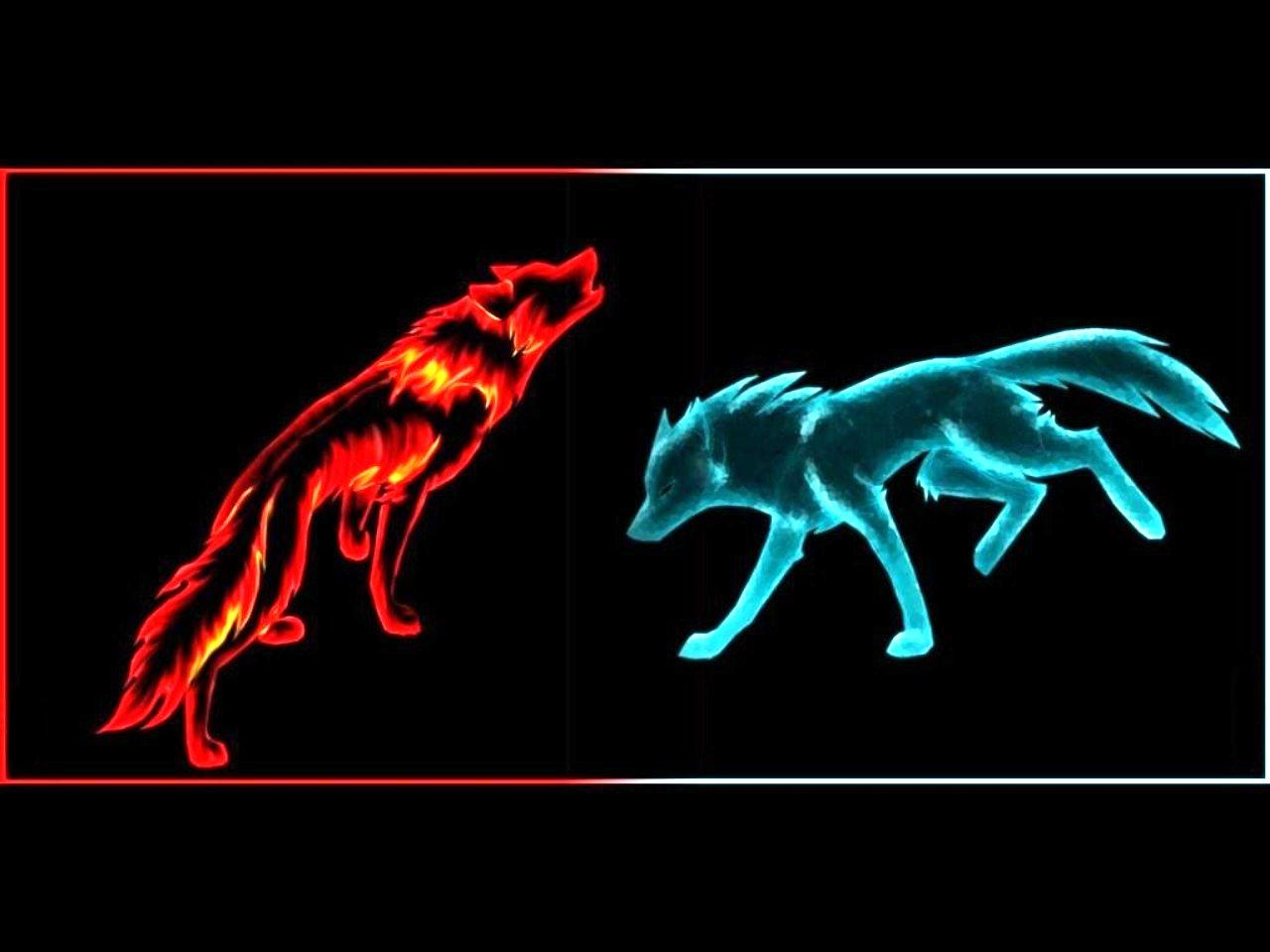 FIRE ICE WOLF wallpaper   ForWallpapercom 1280x960