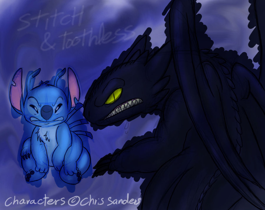 Stitch and Toothless by Mickeymonster 900x716