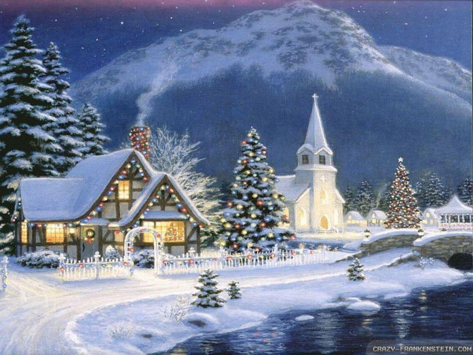 Christmas Village Wallpapers 1600x1200