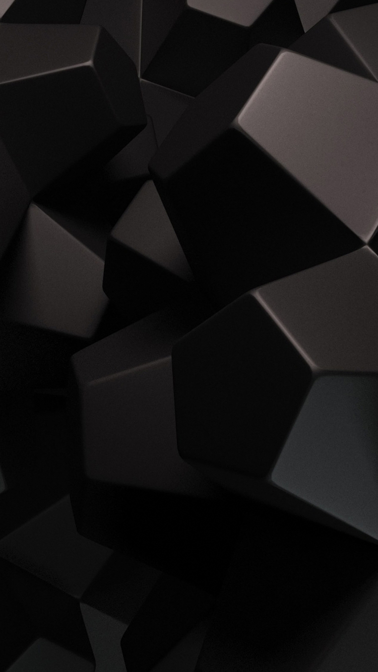 download black 3d wallpaper for iphone 6s 750x1334