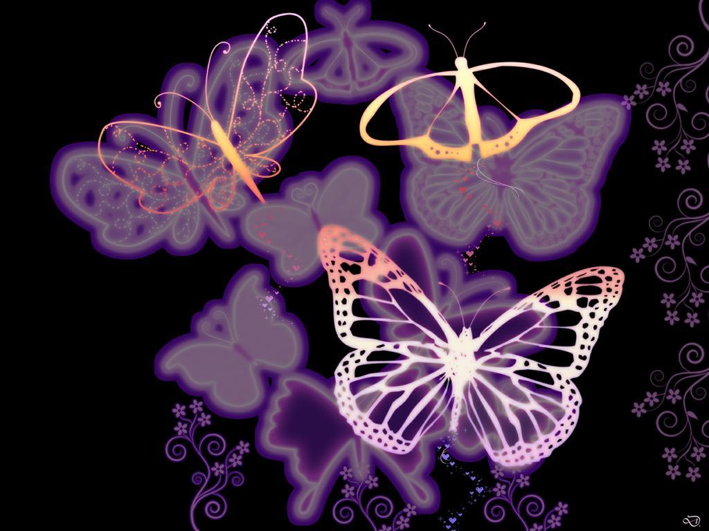 1024x768px fantasy butterfly wallpaper