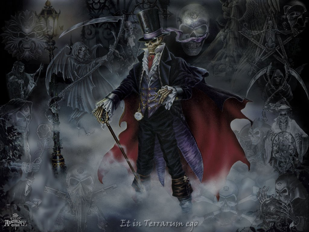 Skulls Goth Wallpaper 1024x768 Skulls Goth Pentagram Gothic 1024x768