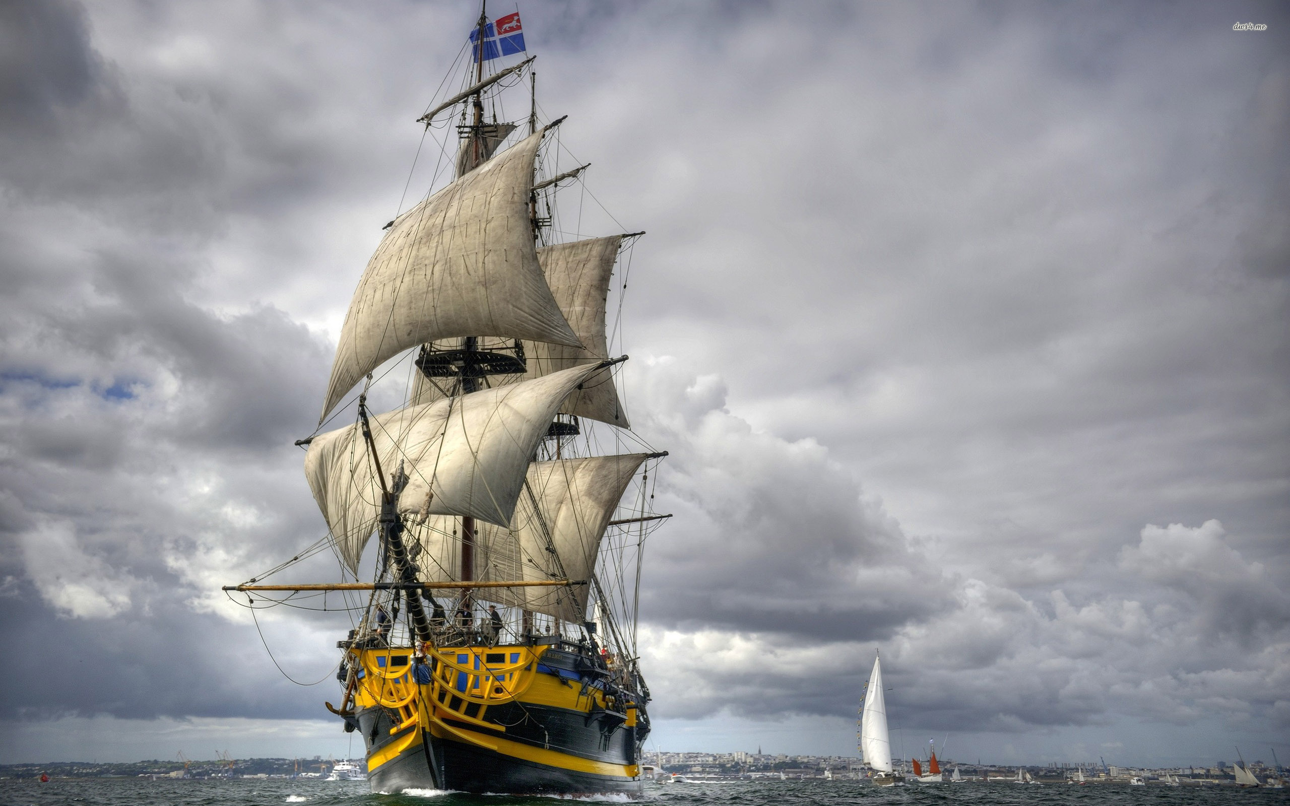 Sailing ship wallpaper 2560x1600 2560x1600