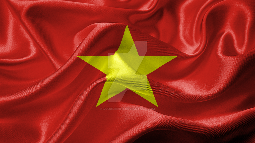 Socialist Republic of Vietnam Realistic Flag by JuDalei2k11 on 1024x576
