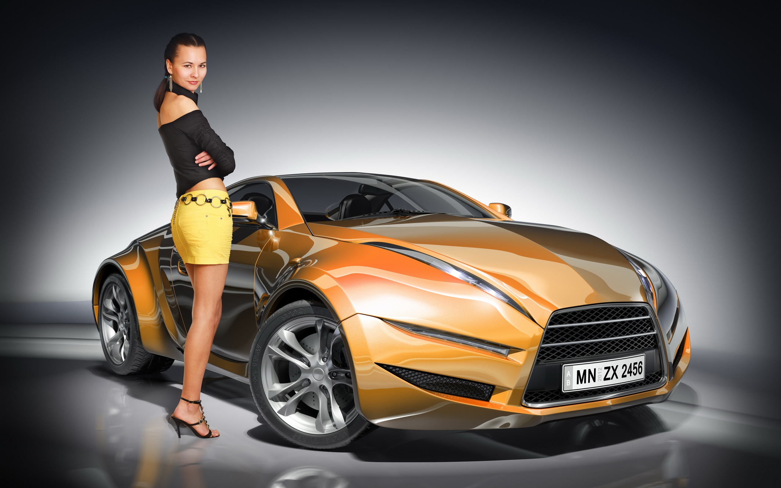 Car And Girl Wallpaper Nice Background Car Wallpapers 2560x1600