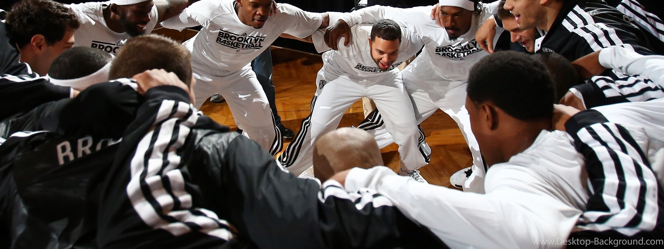 Wallpaper Deron Williams Joe Johnson Basketball 2560x960