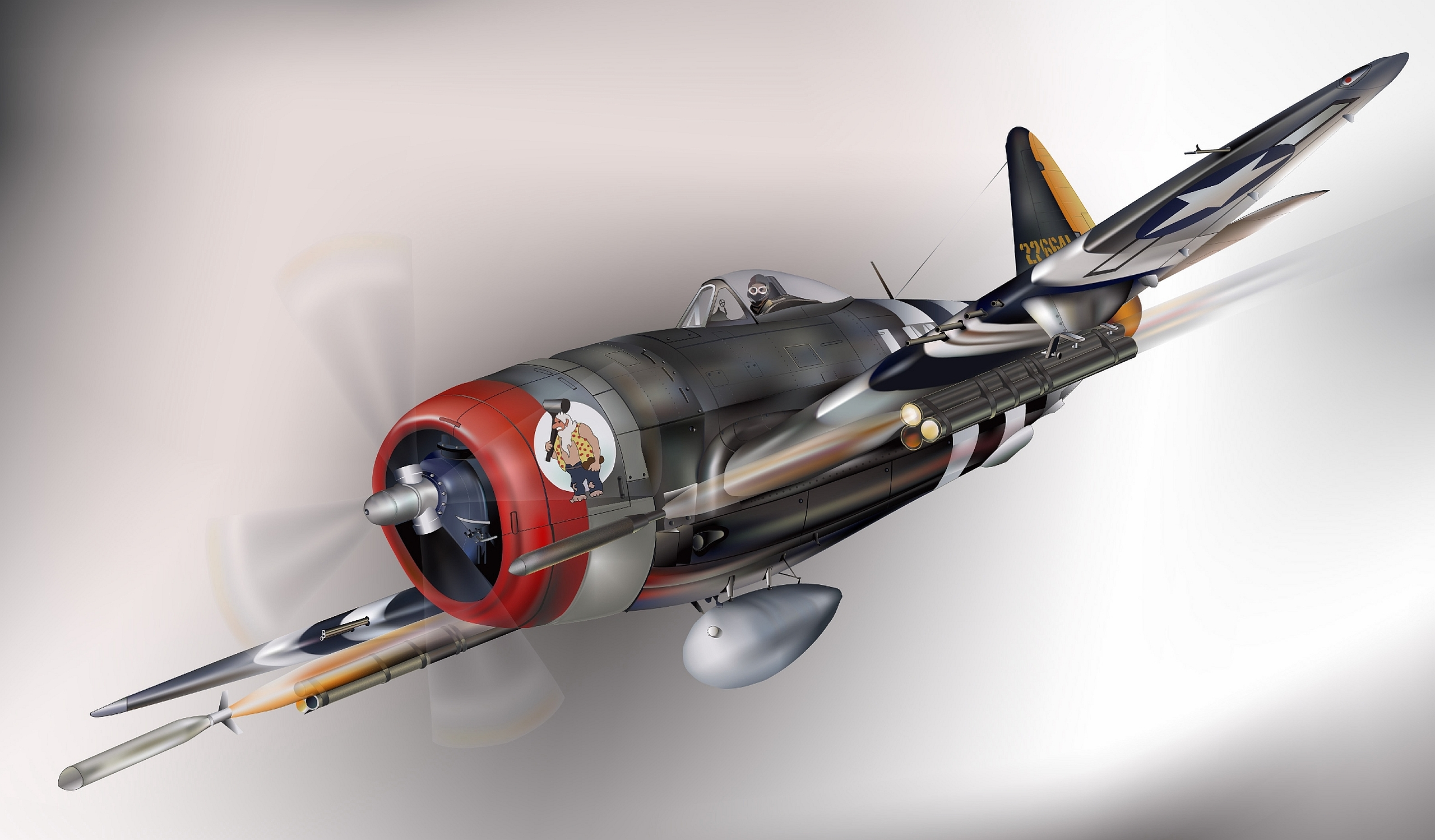 8 Republic P 47 Thunderbolt HD Wallpapers Background Images 2560x1498