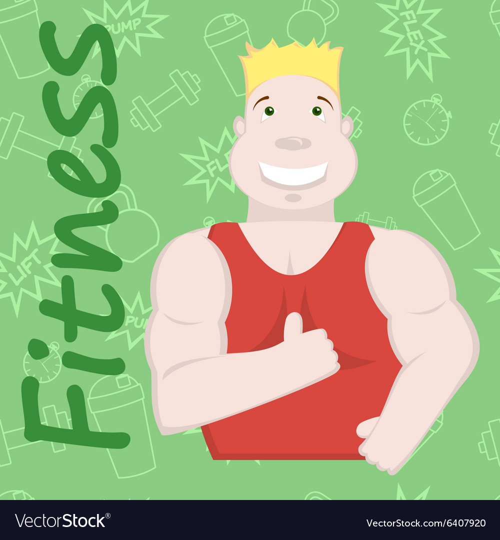 Sportsman fitness background Royalty Vector Image 1000x1080