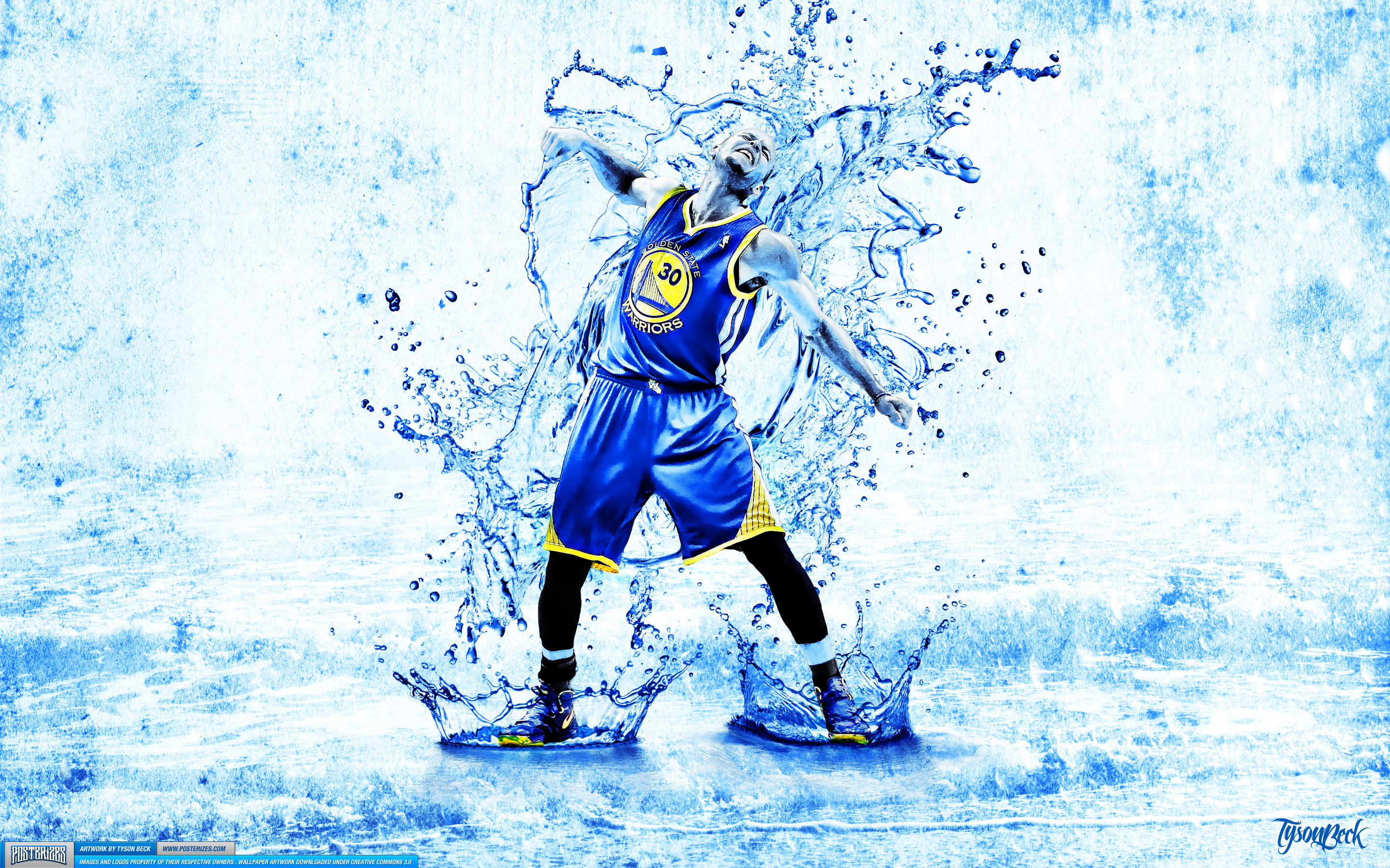FunMozar Stephen Curry Splash Wallpaper 2880x1800