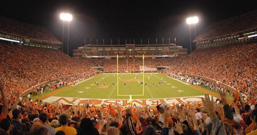 Clemson University Football Wallpaper Memorial stadium   death 500x264