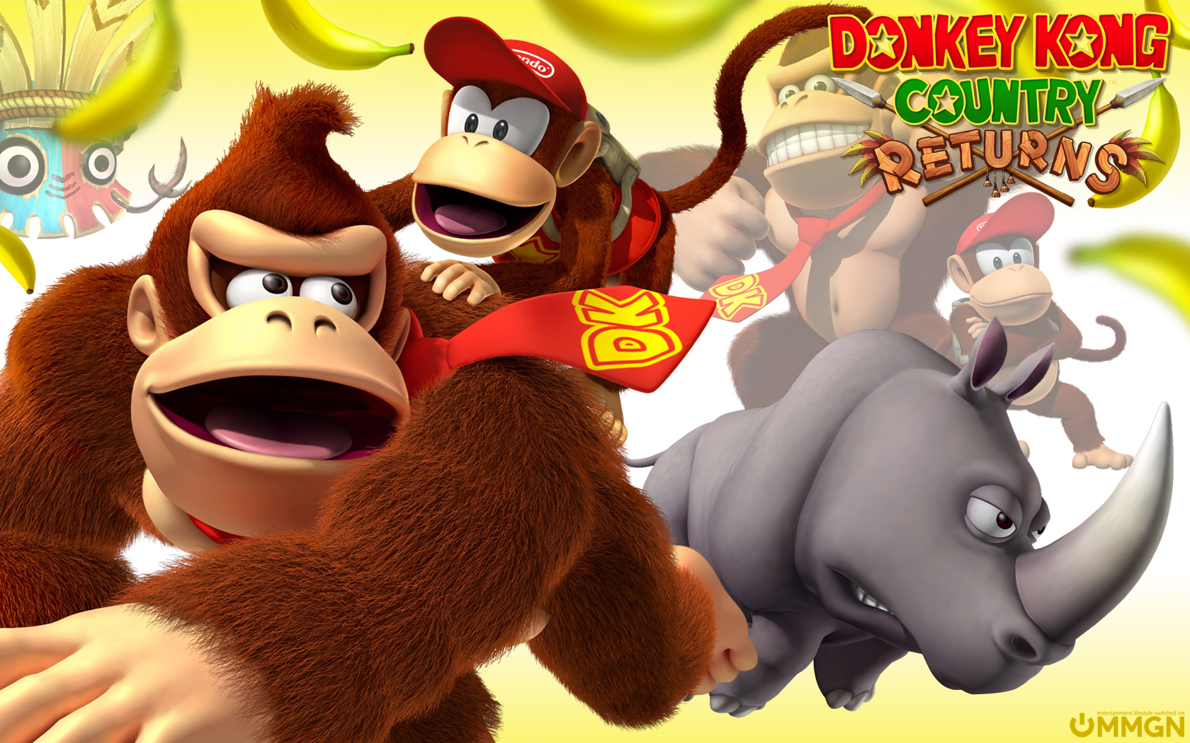1080p Donkey Kong Concept Art Wallpaper