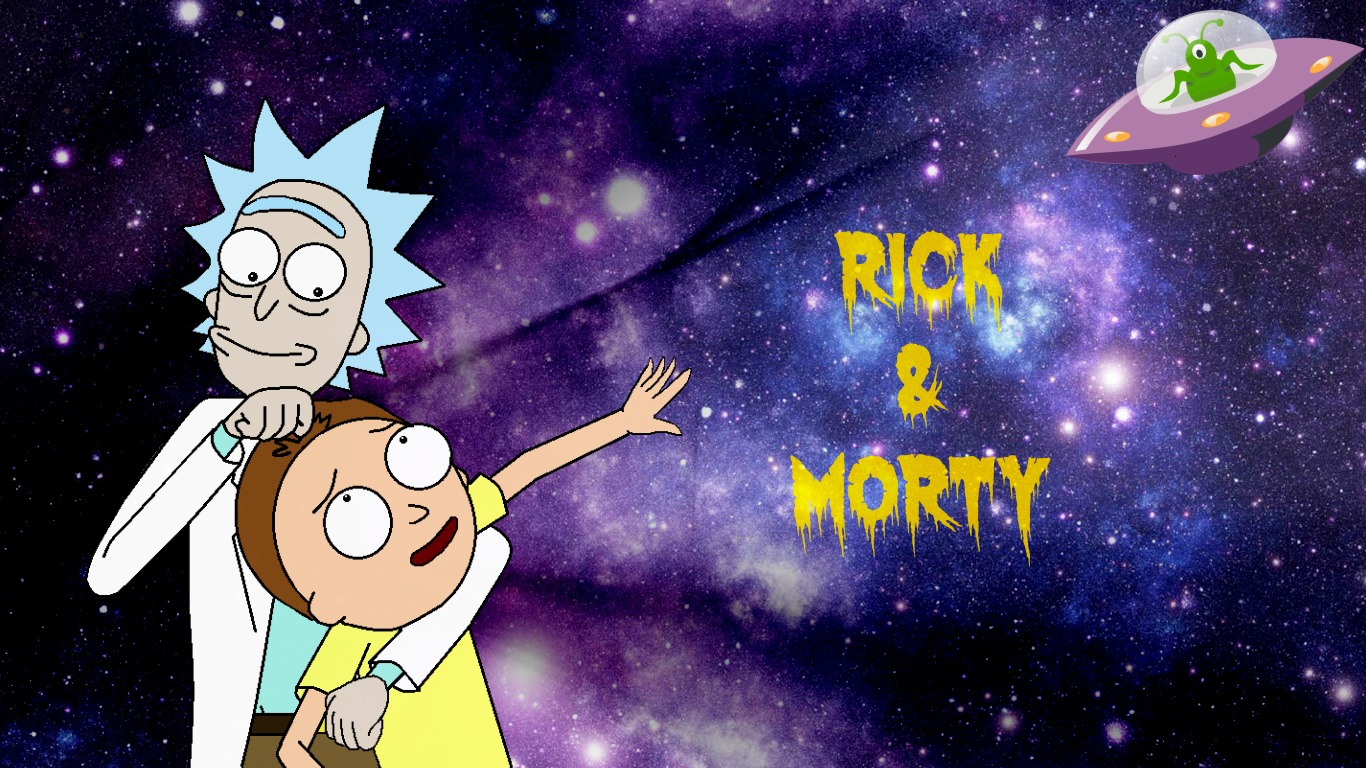Rick And Morty Space and Aliens Wallpaper by Roxy1049 on 1366x768