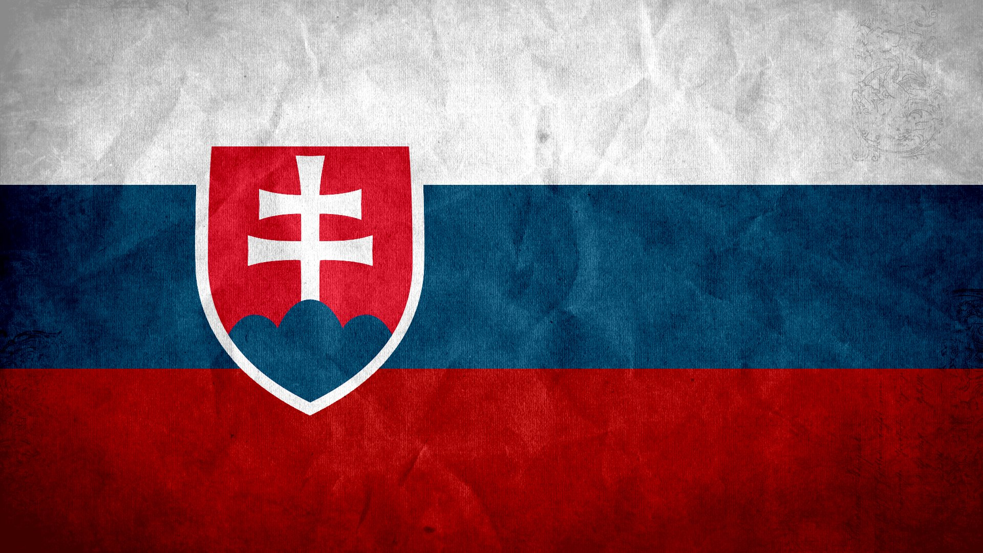 2 Flag of Slovakia HD Wallpapers Background Images 1920x1080