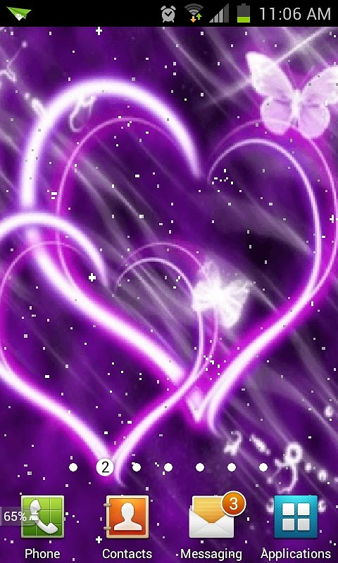 Purple Heart Live Wallpaper Android Live Wallpaper download 480x800