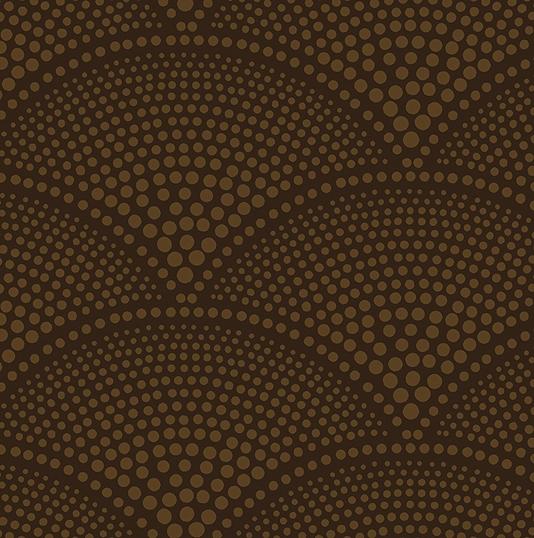 from the original design Gold print on dark brown background 534x538