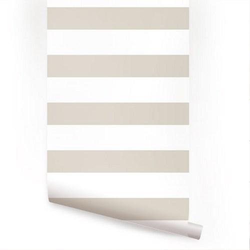 Horizontal Grey Peel and Stick Fabric Wallpaper Repositionable 500x500