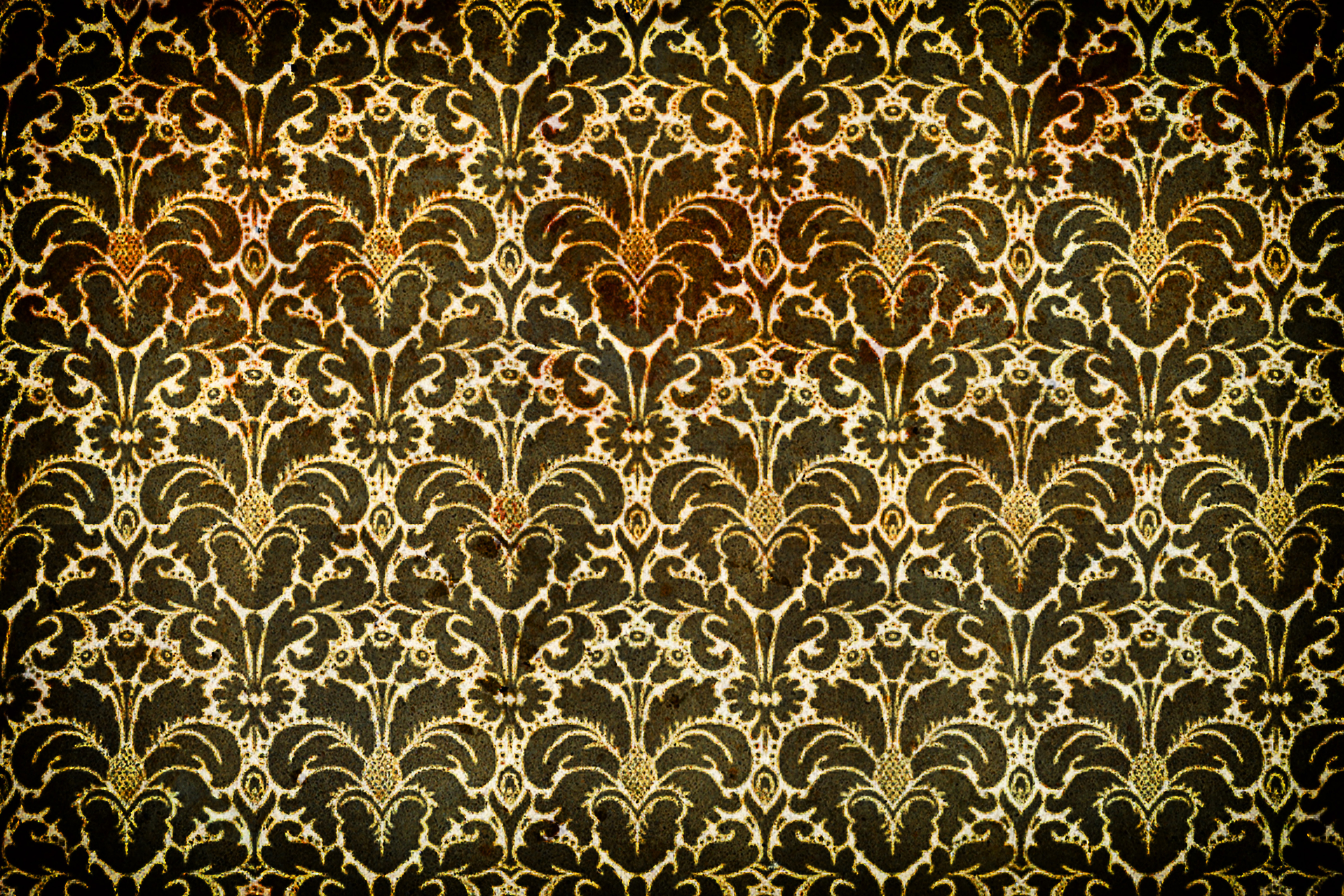 10 high resolution Grungy French Wallpaper textures using patterns 4800x3200
