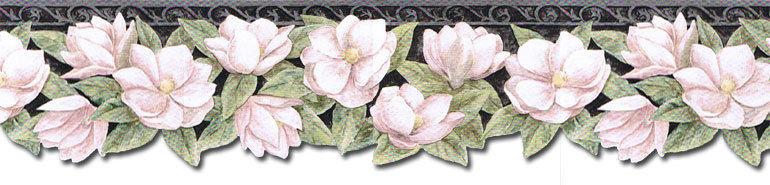 Die Cut Magnolia Flowers Wallpaper Border PT24024B eBay 770x185