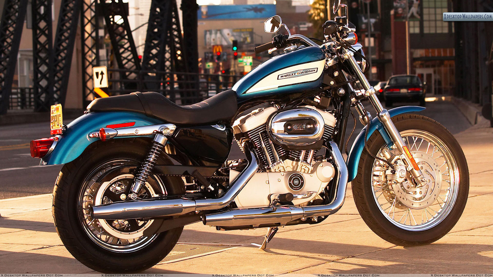 2007 Harley Davidson XL1200R Sportster Wallpaper 1920x1080