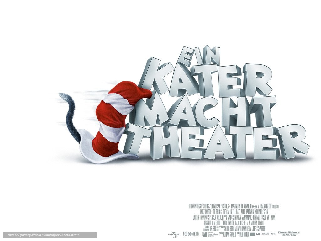 Download wallpaper Cat The Cat in the Hat film movies 1024x768