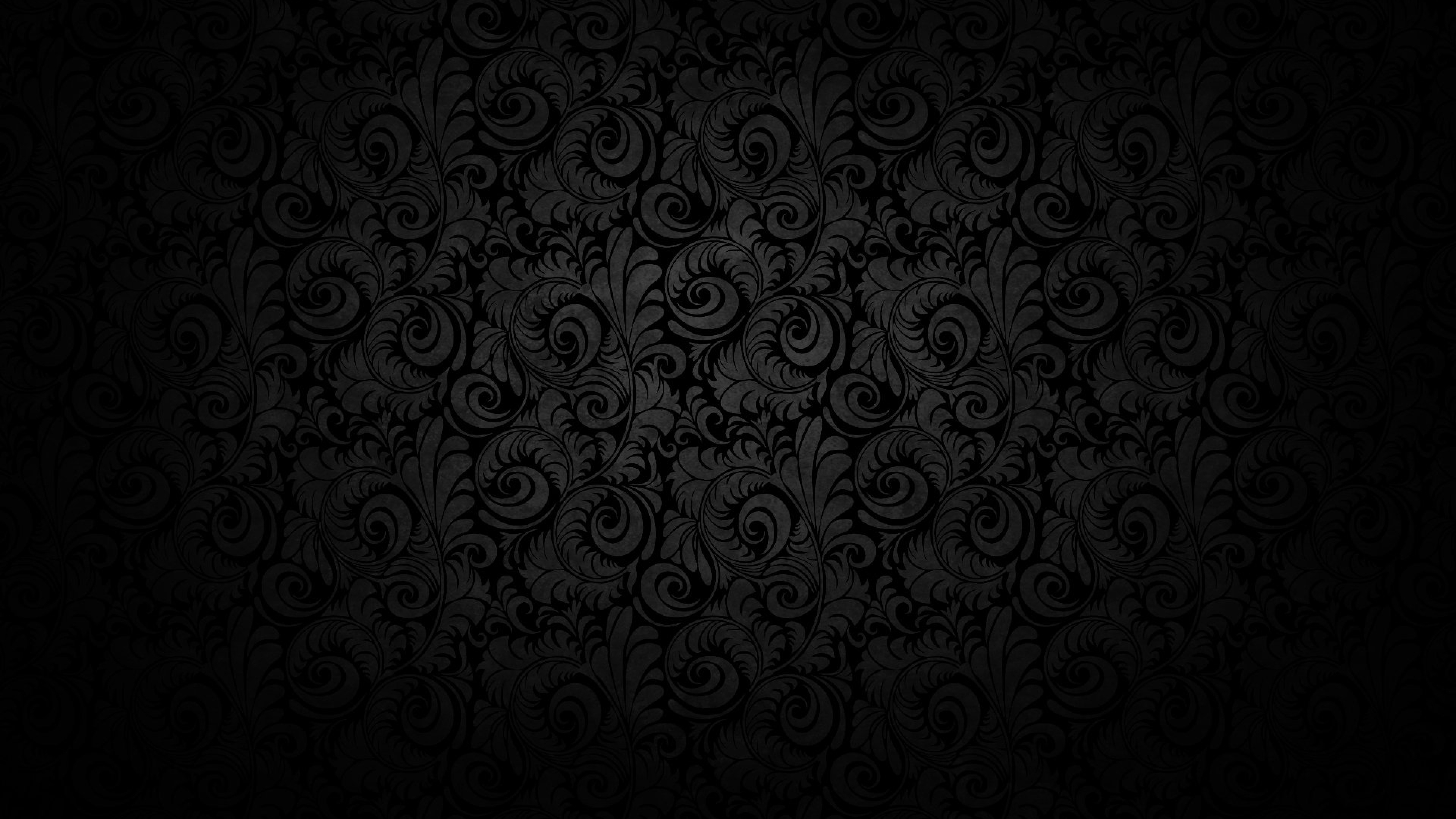 Black background Pattern Light Texture Wallpaper Background 4K 3840x2160