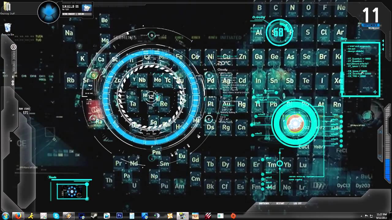 Iron Man Jarvis 10 Animated BackgroundDesktop 1280x720