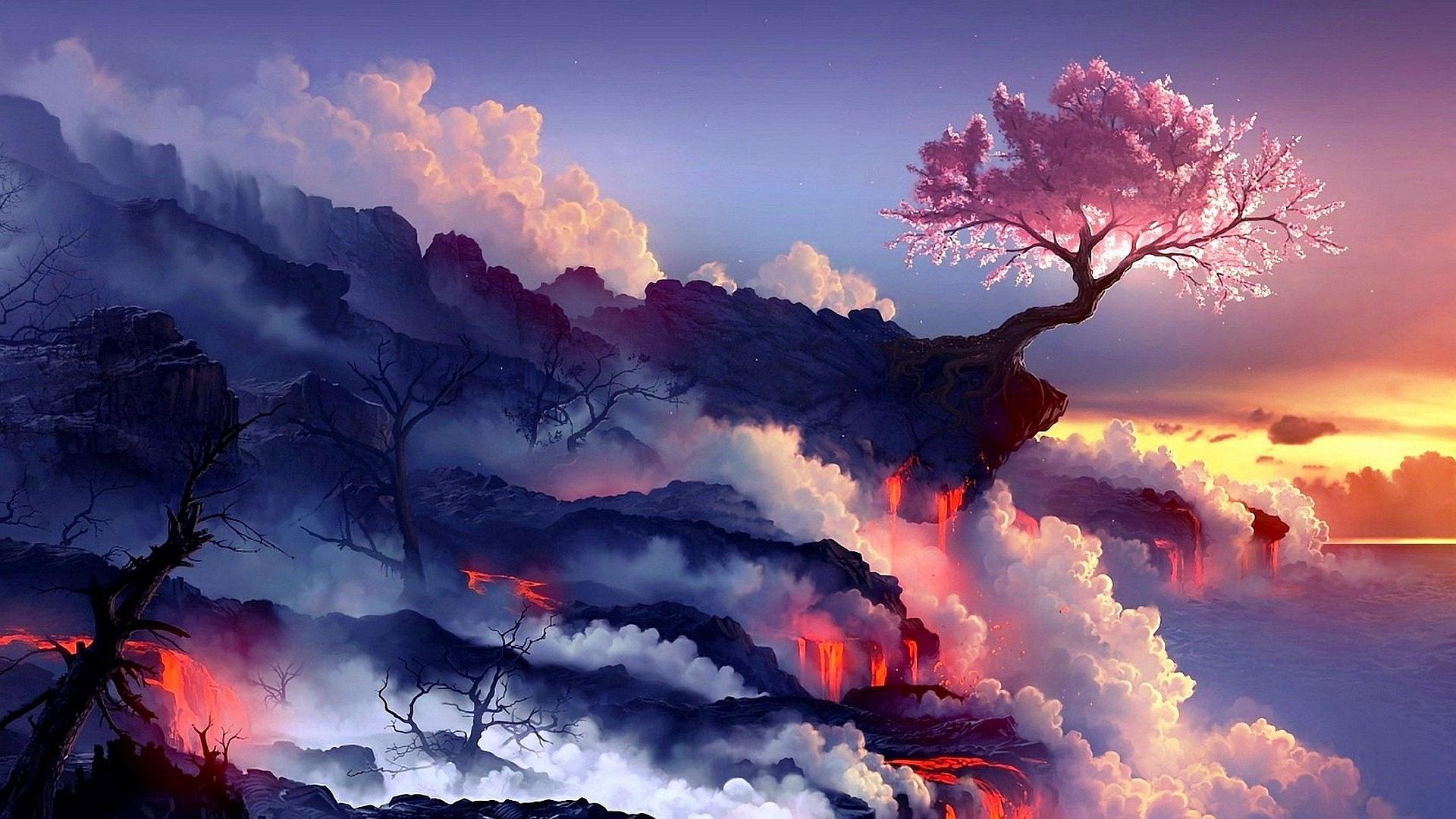 Fantasy Volcano Wallpaper 20288 1920x1080px 1920x1080