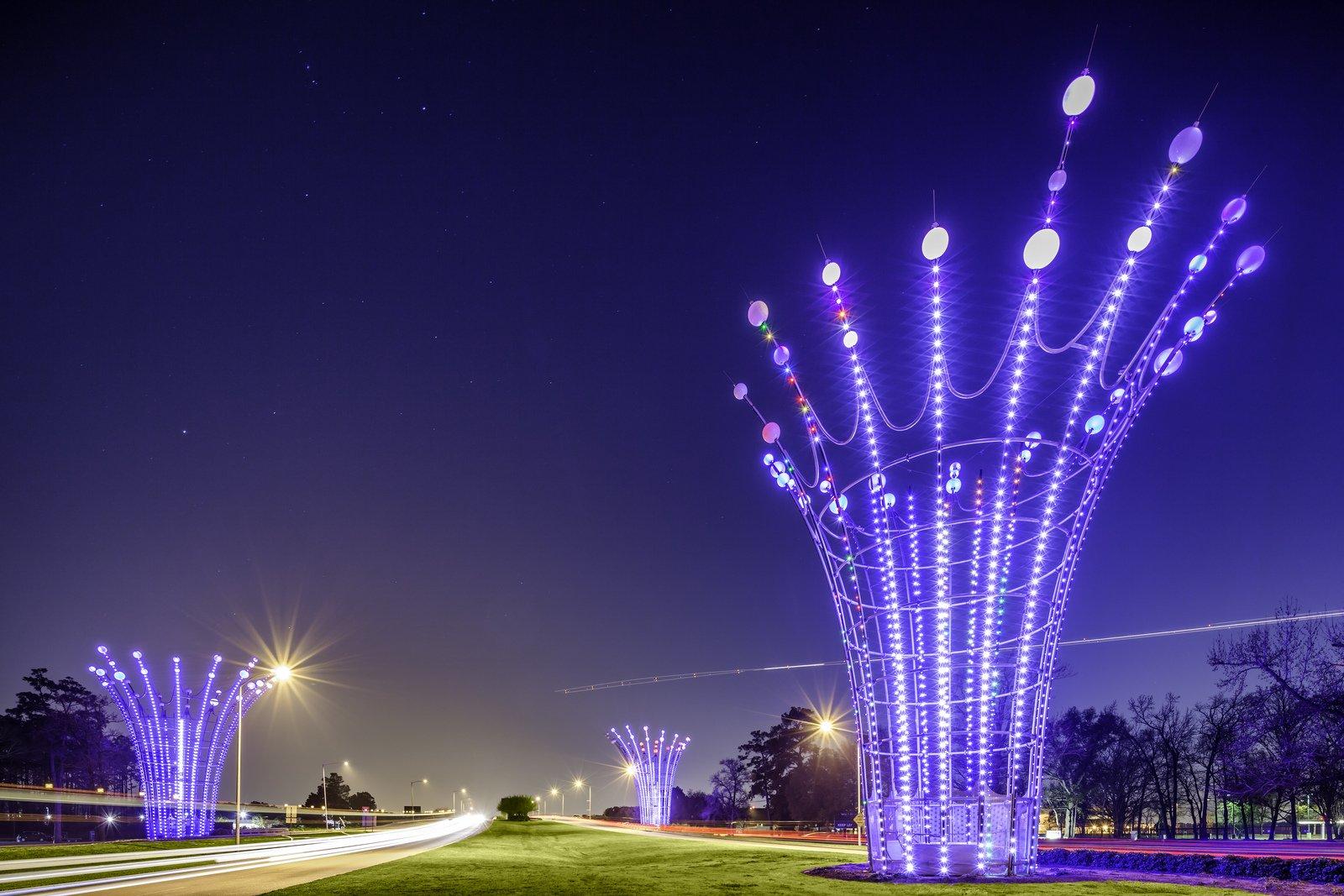 Houston architecture bridges cities City texas Night towers buildings 1600x1067