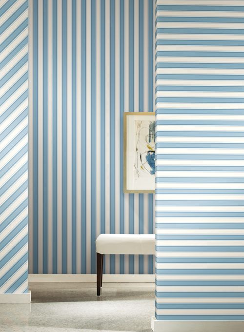 Ashford Stripes York Wallcoverings wallpaper yorkwallcoverings 500x681