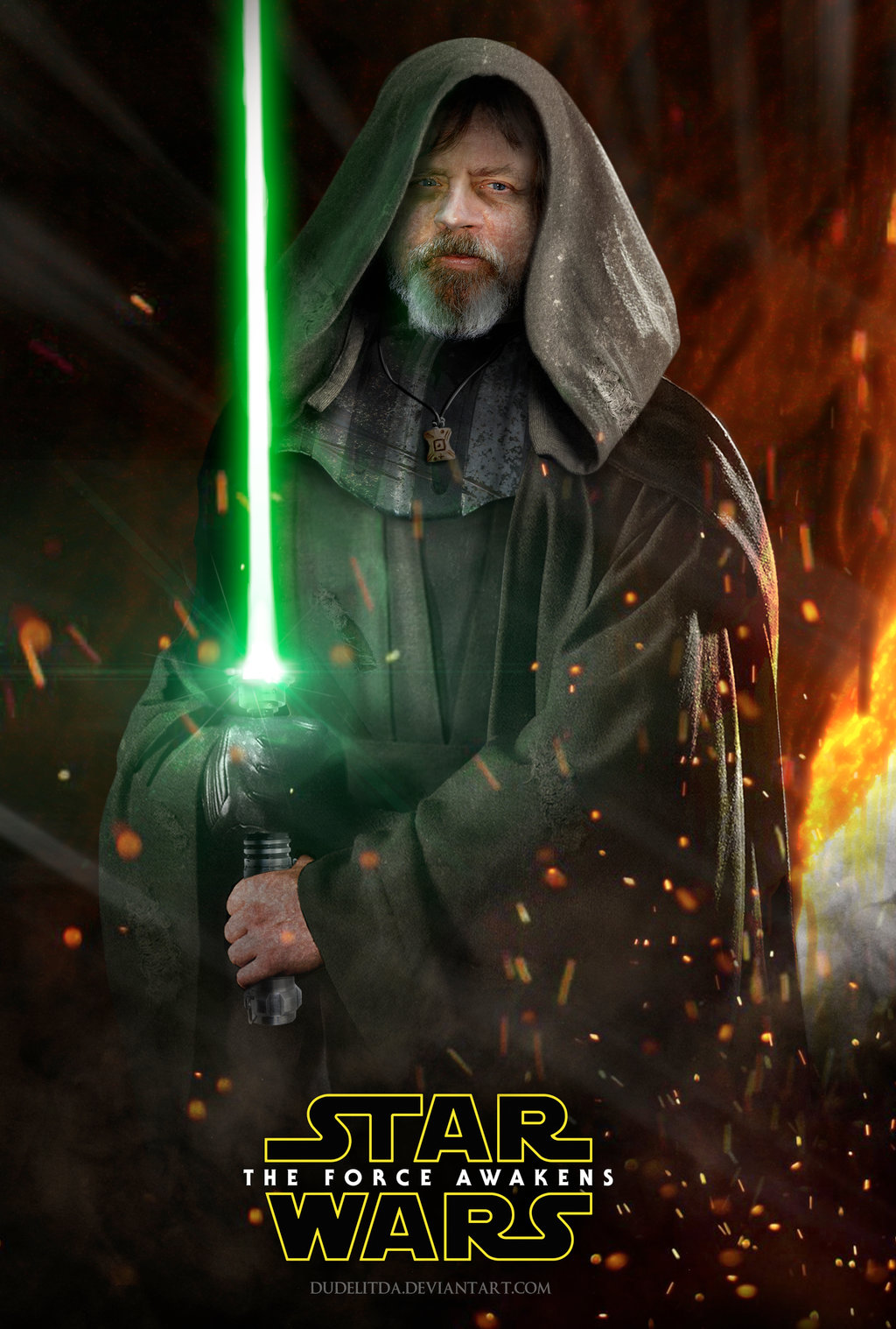 Star Wars Luke Force Awakens From dudelitdadeviantartcom 1024x1518