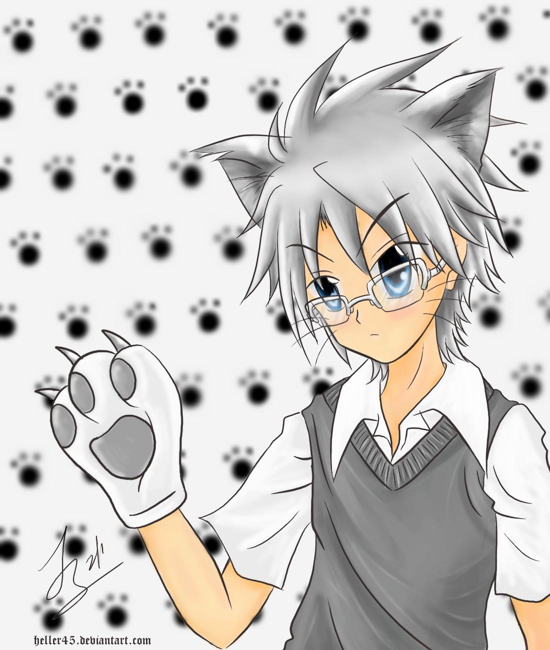 Cute Anime Wallpapers: Neko Boy Wallpaper