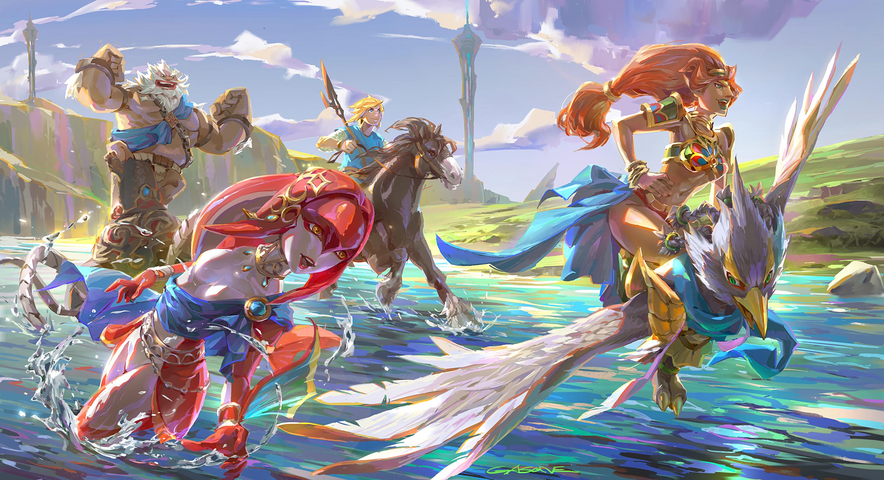 19 Mipha The Legend Of Zelda HD Wallpapers Background Images 3072x1668