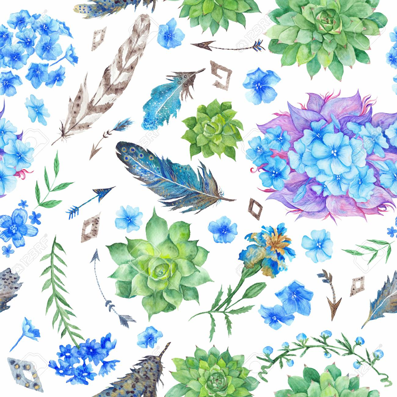 Forest Boho Style Illustration For Wallpaper Textile Event 1300x1300