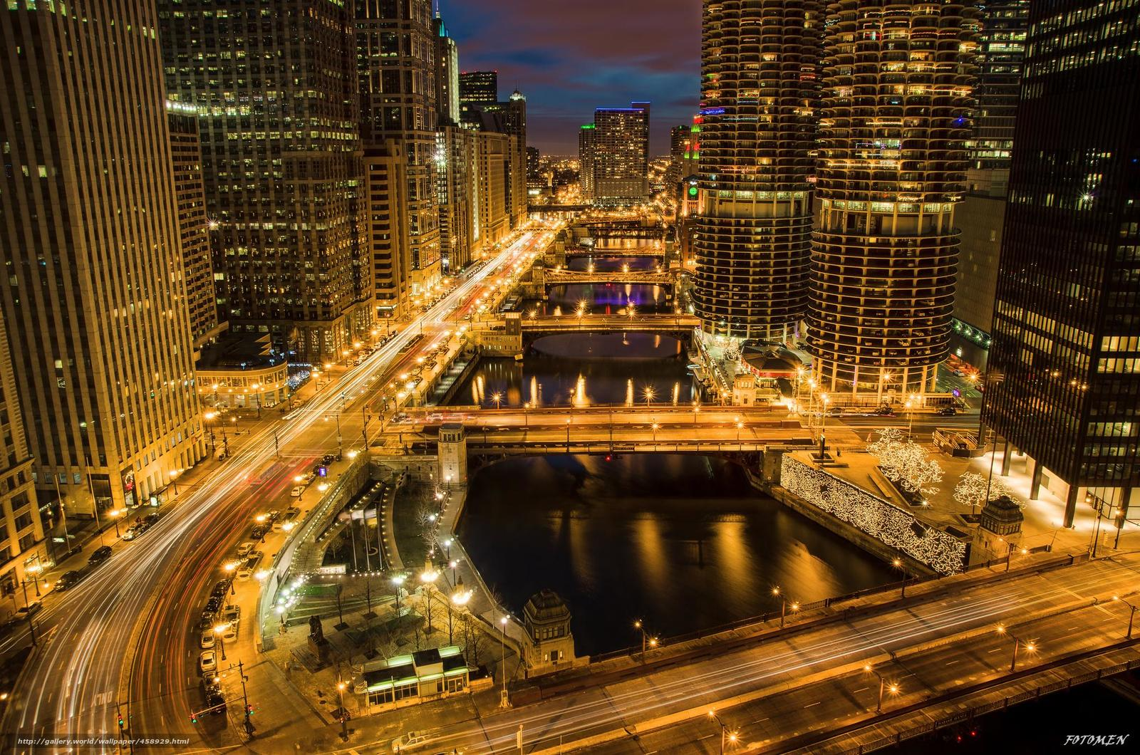 Download wallpaper Chicago Chicago USA illinois 1600x1060