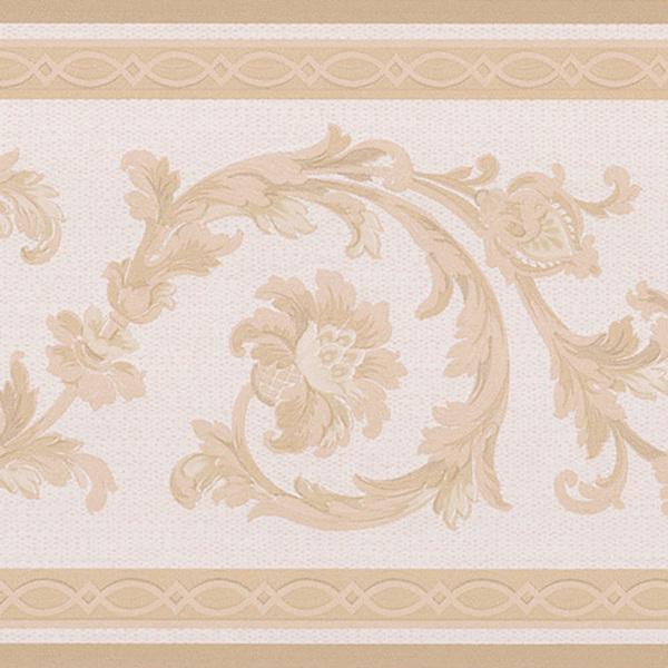 Beige Scroll Border Wallpaper   15242965   Overstockcom Shopping 600x600
