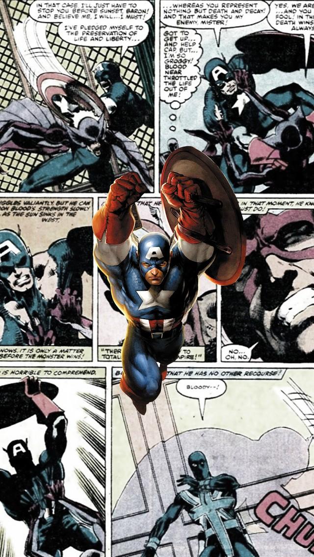 captain america comics iphone wallpaper tags america captain comics 640x1136