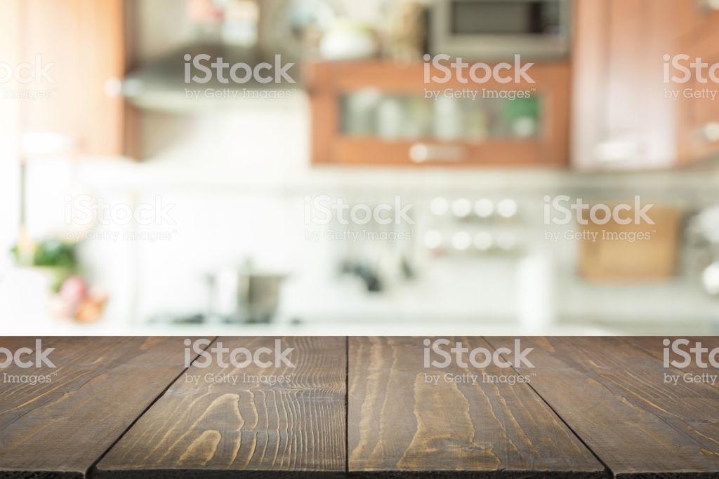 Blurred Background Modern Kitchen With Tabletop And Space For You 1024x683