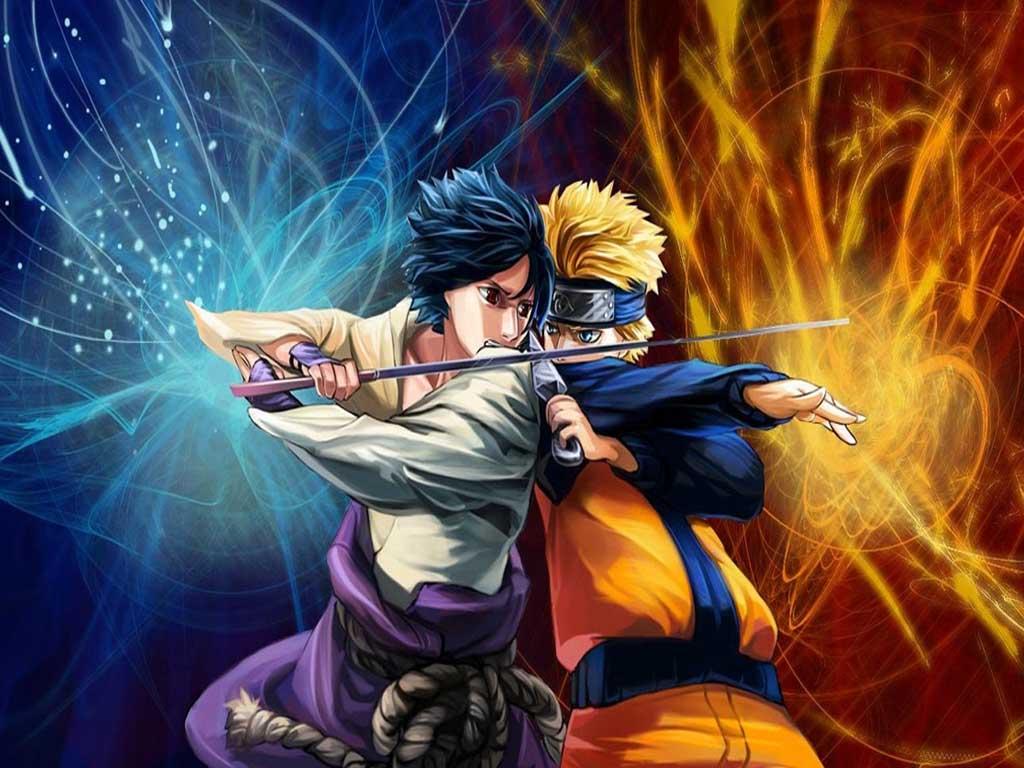 Top Cartoon Wallpapers Naruto Vs Sasuke Wallpaper 1024x768