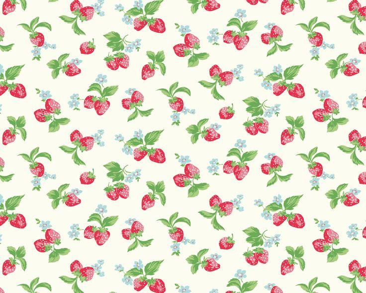 Strawberries Cotton Cath Kidston Handkerchiefs Hankey Strawberries 736x588