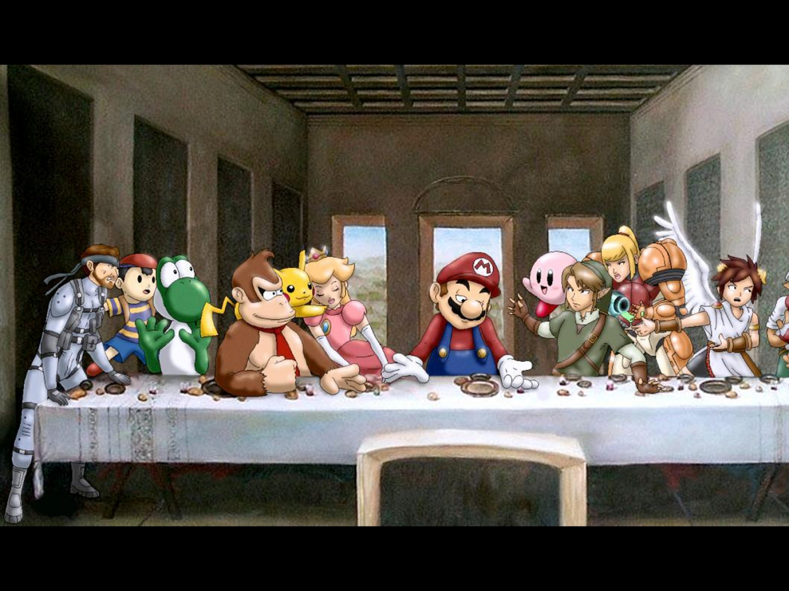 last supper wallpaper   weddingdressincom 1600x1200
