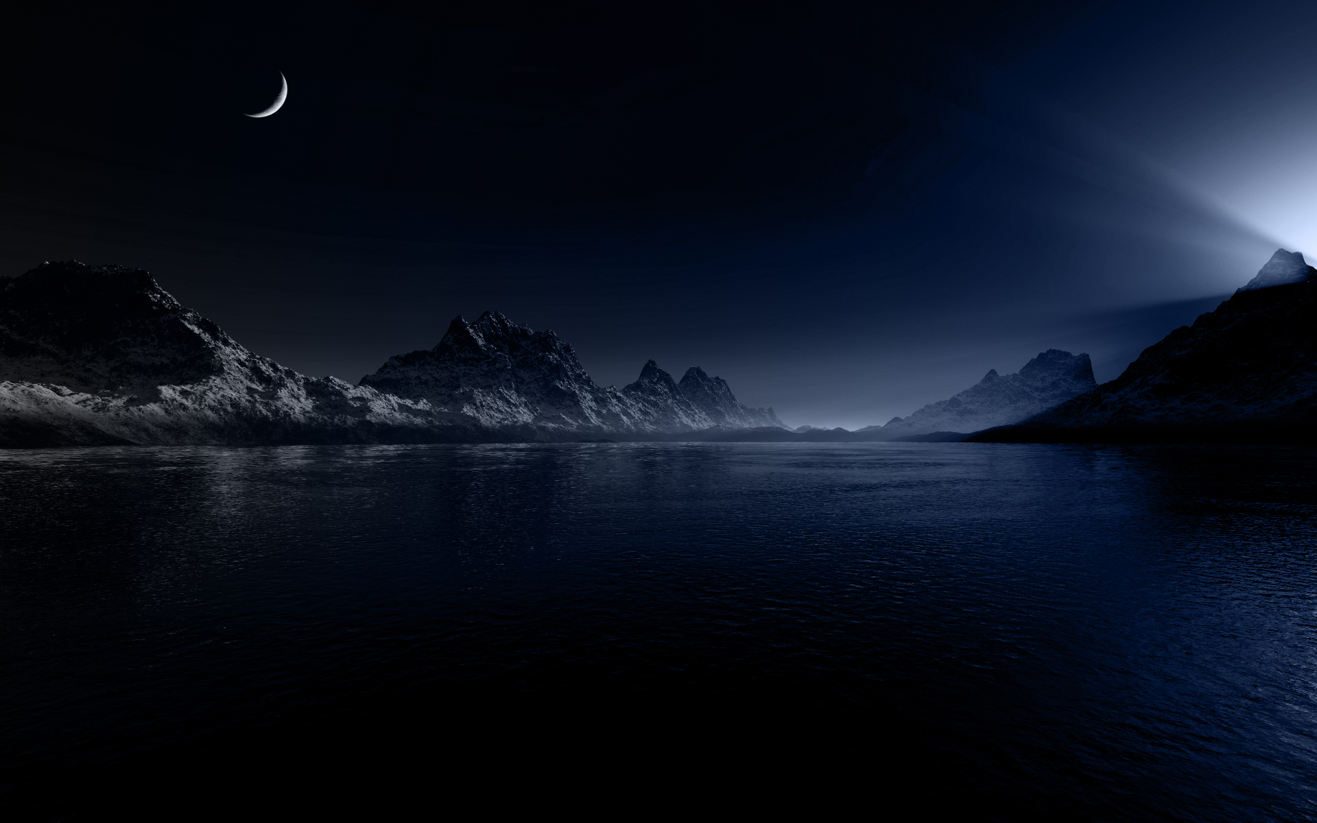 Landscapes Night Wallpaper 1920x1200 Landscapes Night Moon 1920x1200