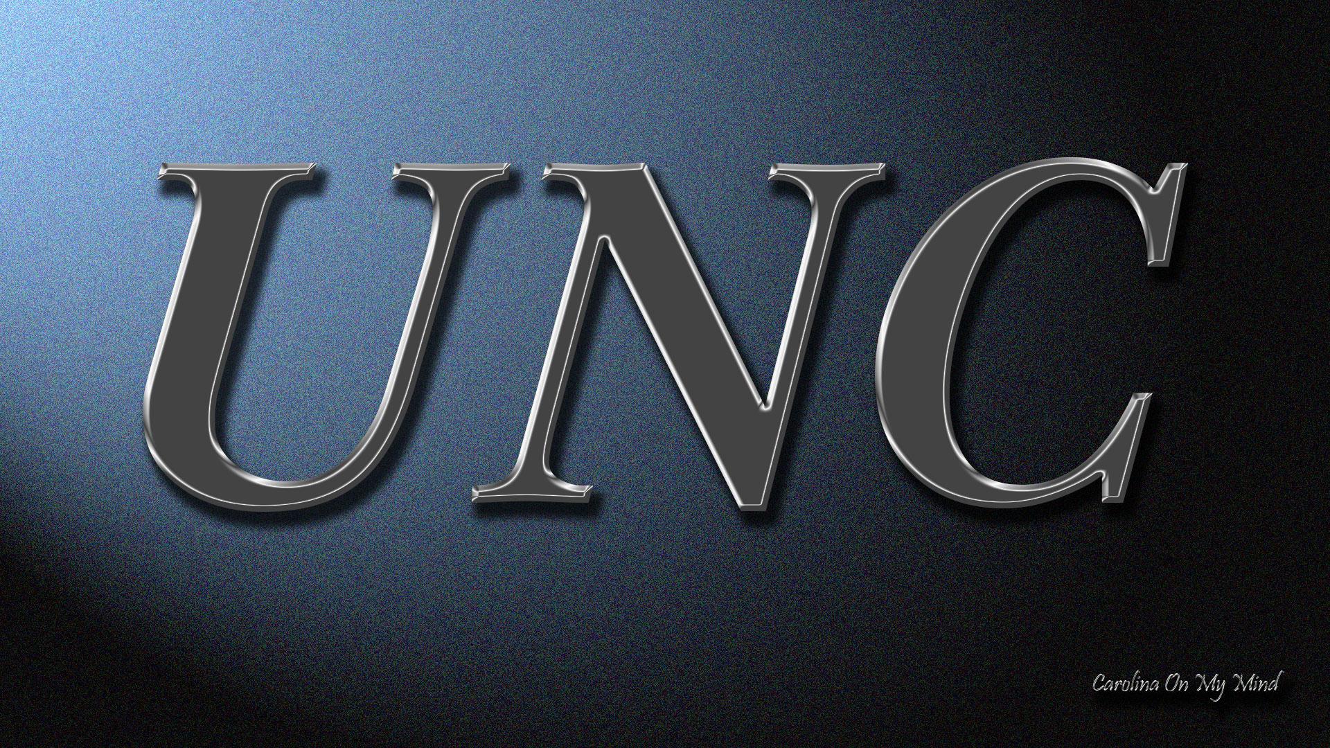 UNC Desktop Wallpaper Metal Letters on Lit Wall 1920x1080