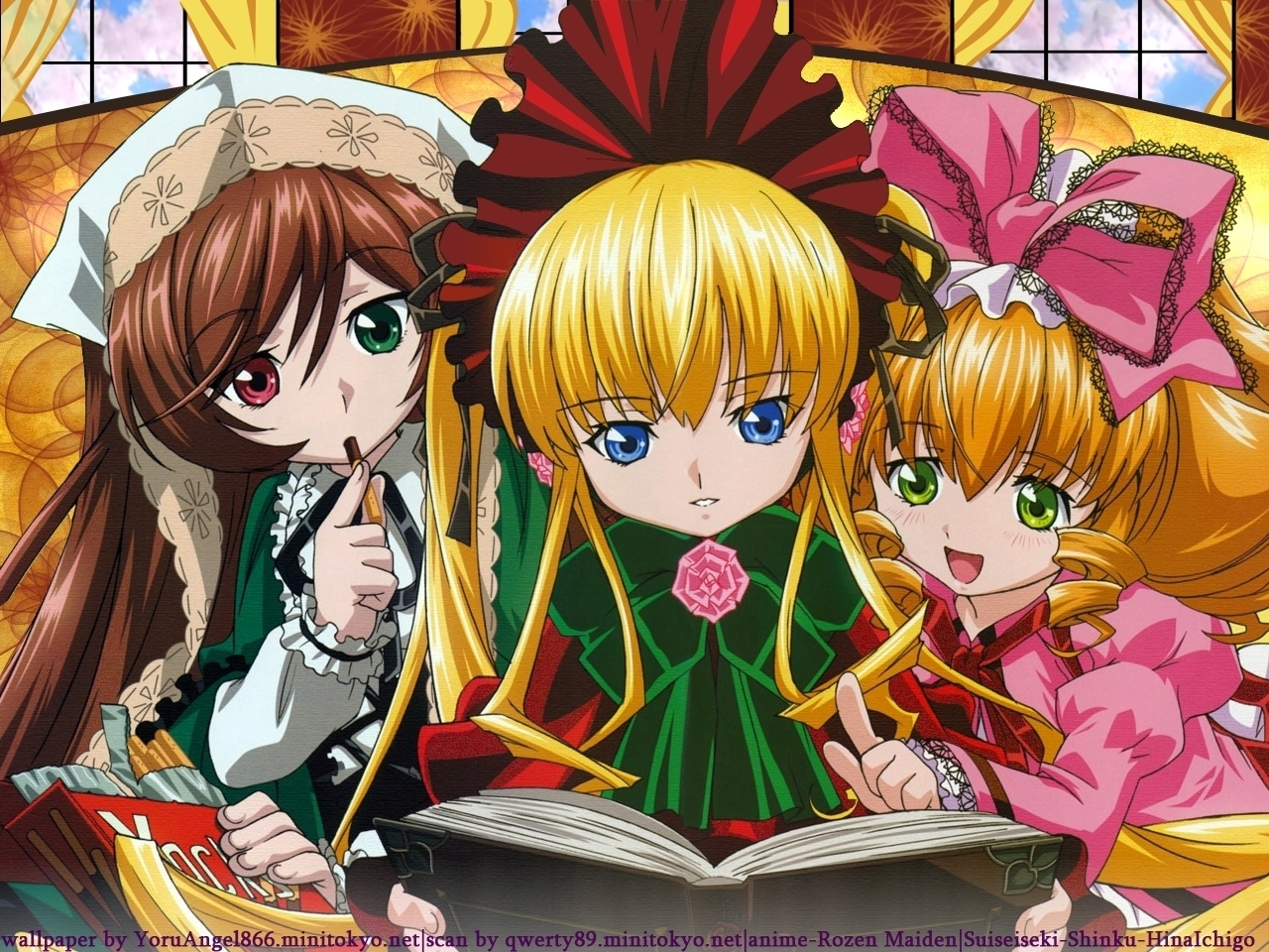 Free Download Shinku Reading A Story Rozen Maiden Wallpaper