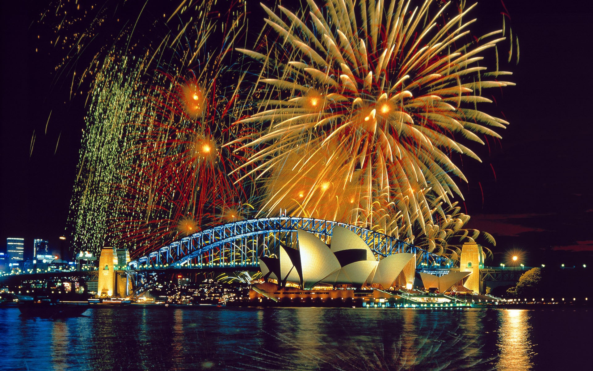 Fireworks at the Sydney Opera House wallpaper   606011 1920x1200