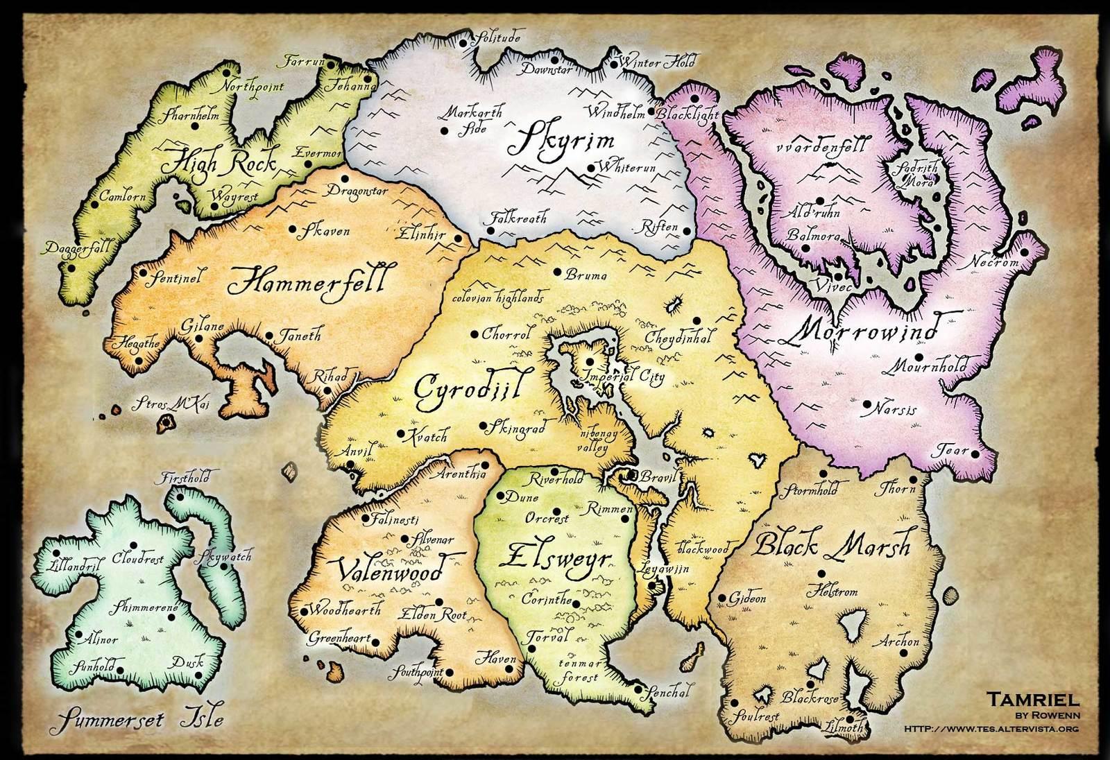 The full map of Tamriel   Album on Imgur 1600x1096