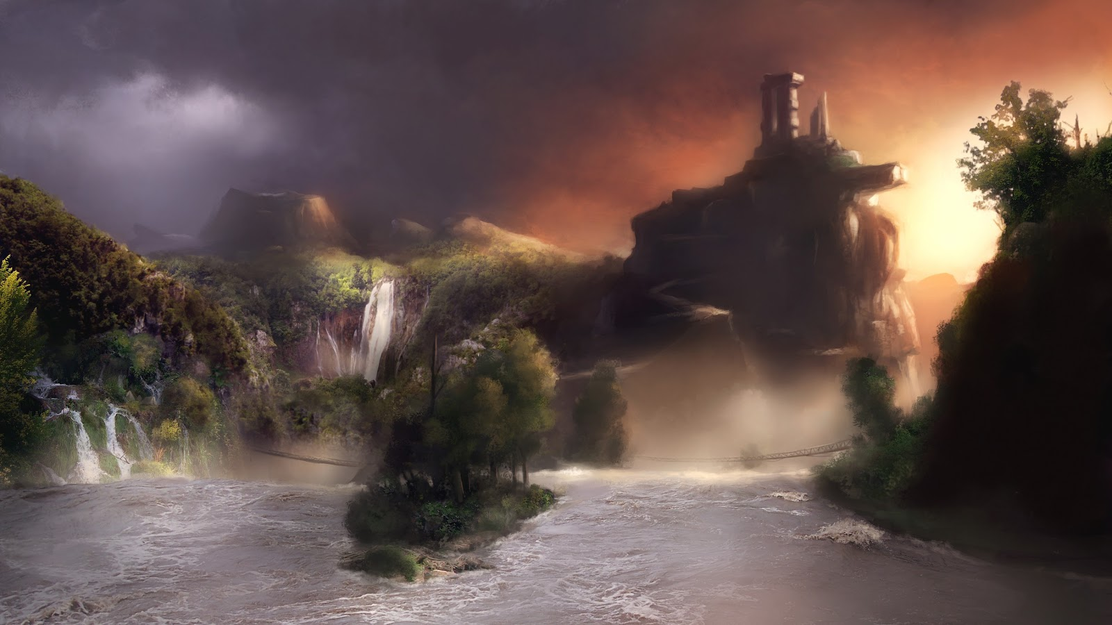 scenery age of conan wallpaper background image img picture pic 1600x900