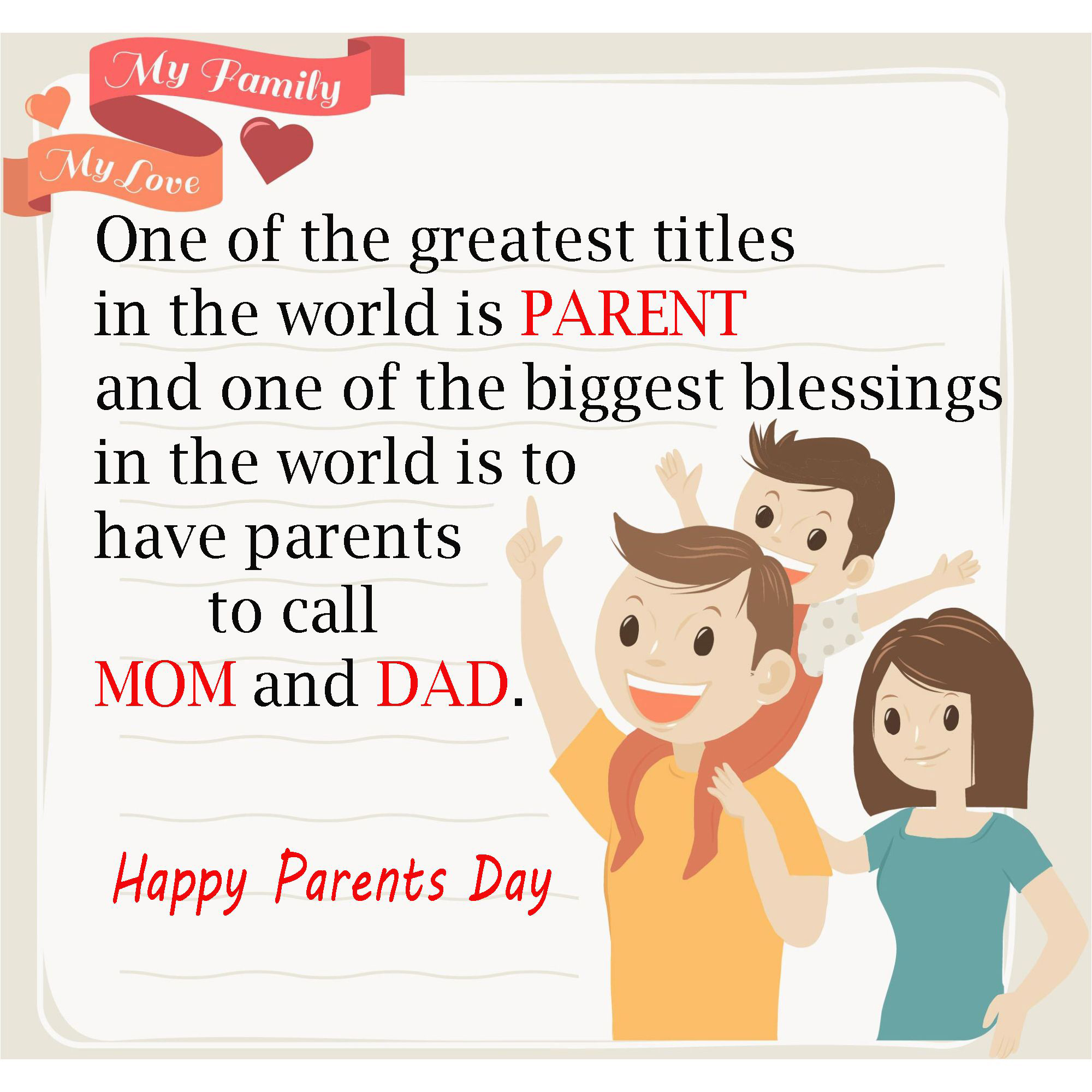 Happy Parents Day Whatsapp Status 2000x2000