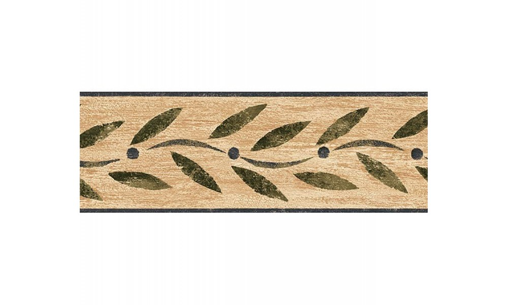 Home Blue Country Leaf Wallpaper Border 1000x600