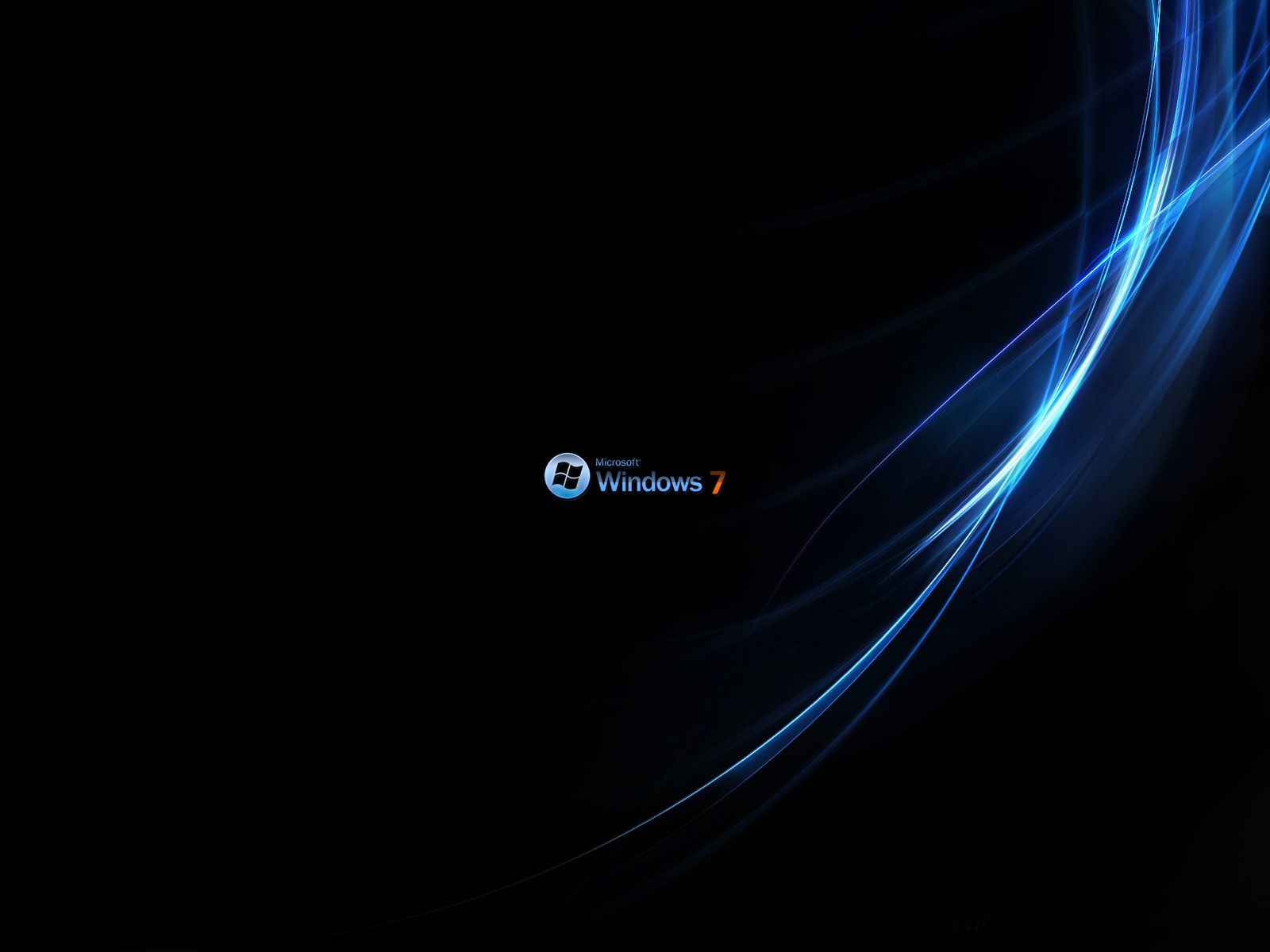 Download windows seven black 1024x768 wallpaper 1771 - Black Wallpapers For Windows Windows Images Windows Pictures Free